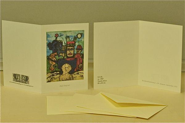 kaart kaarten beeldend kunstenaar Jaap Jungcurt J.H. The Hatter Jacobus cursto karel beunis handmade limited edition boekbinderij seugling