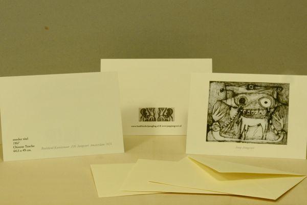 kaart kaarten beeldend kunstenaar Jaap Jungcurt J.H. De Nar Jacobus cursto karel beunis handmade limited edition boekbinderij seugling