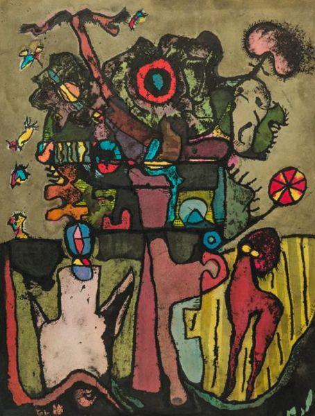 kaart kaarten beeldend kunstenaar Jaap Jungcurt J.H. Jacobus cursto karel beunis LRP 1967 De Vlucht